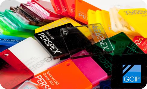Acrylic sheet colour swatch